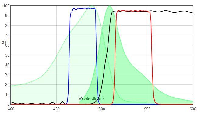 JNO-B(B) VS GFP spectrum 비교