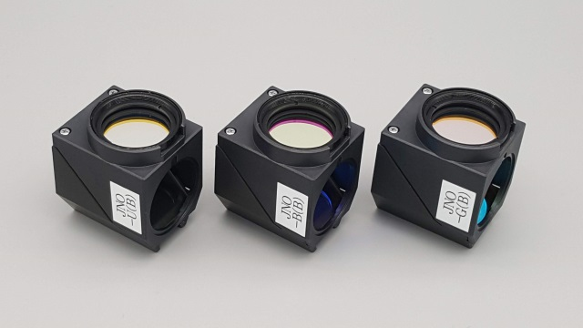 Standard Fluorescence Filter Cube Set for Microscope